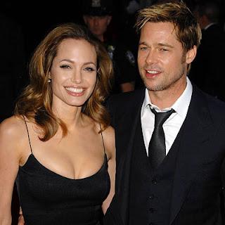 Angelina Jolie with her boy friend - Actor Brad Pitt