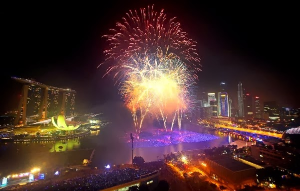 New year 2014 Celebration in Singapore