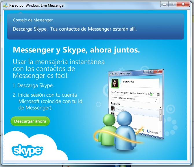 bioblogía tutorial cómo fusionar windows live messenger con skype