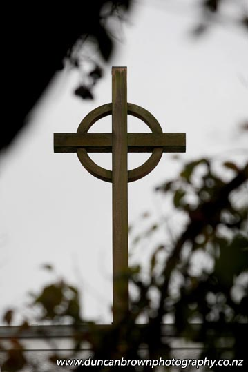 Celtic Cross, St Paul's Presbyterian Church, Dalton St, Napier - Photograph