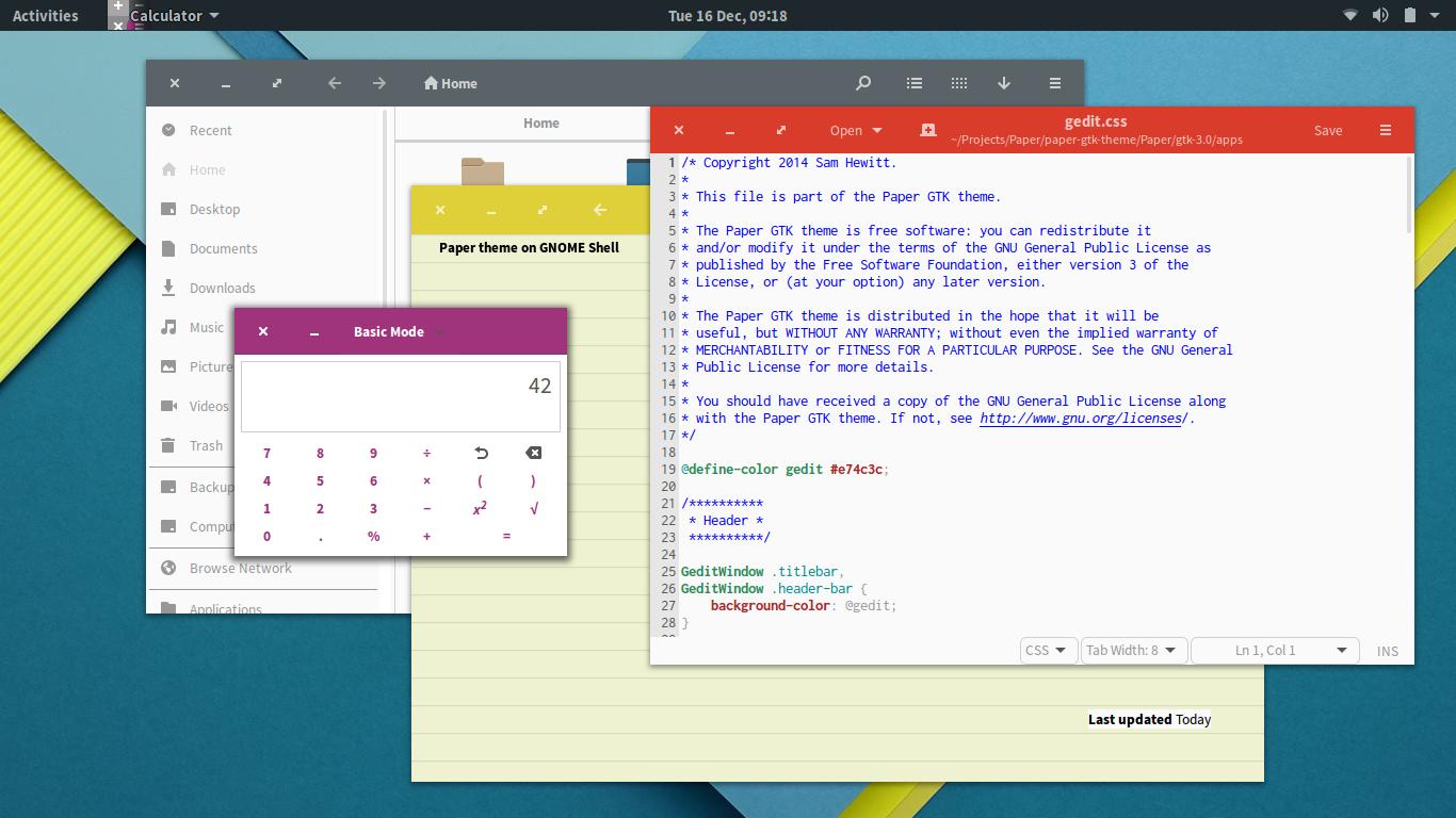 Ubuntu Material Design, tema bonito para ubuntu,