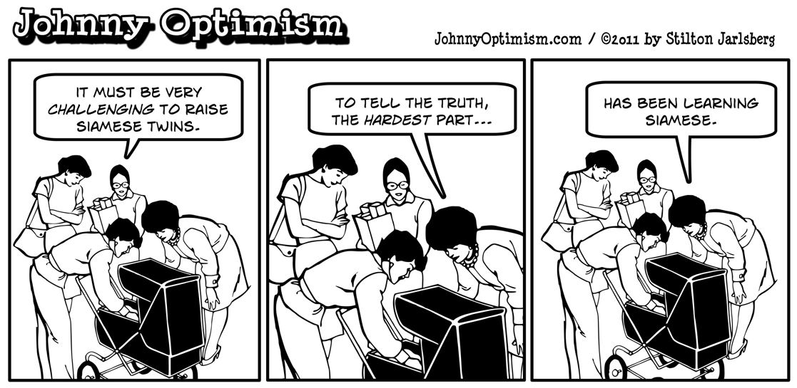 Johnny optimism, johnnyoptimism, medical humor, babies, stilton jarlsberg