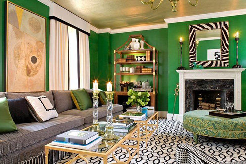 Sherill Canet Went Bold In This Dramatic Living Roomits Quirky But It Works