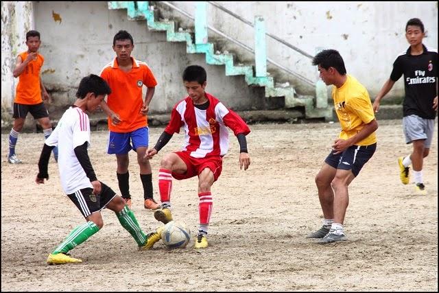 Football in mela ground Kalimpong
