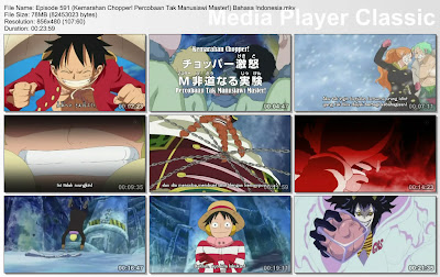Download Film One Piece Episode 591 (Kemarahan Chopper! Percobaan Tak Manusiawi Master!) Bahasa Indonesia