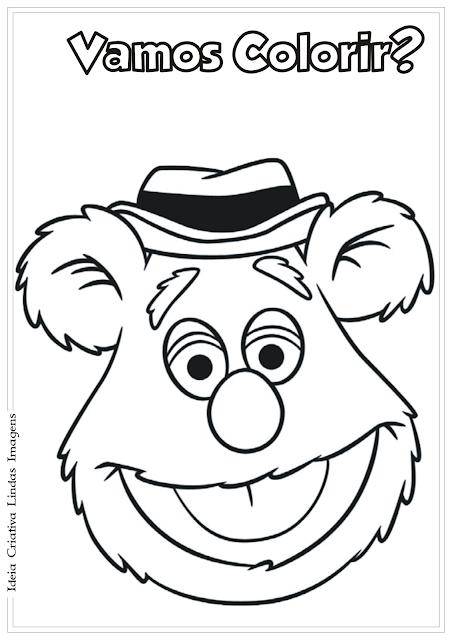 Os Muppets Urso Fozzie desenho para colorir