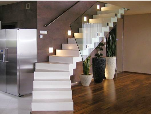 Concrete Staircase Designs For Hi Tech Interior Style