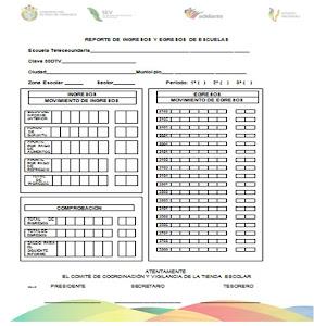 NUEVOS FORMATOS TIENDAS ESCOLARES 2011-2012 (REPORTE DE INGRESOS Y EGRESOS)