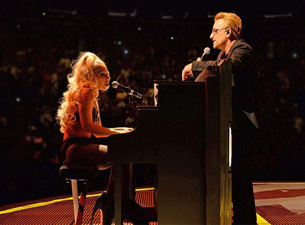 Lady Gaga Joins U2 at Madison Square Garden (July 26th)
