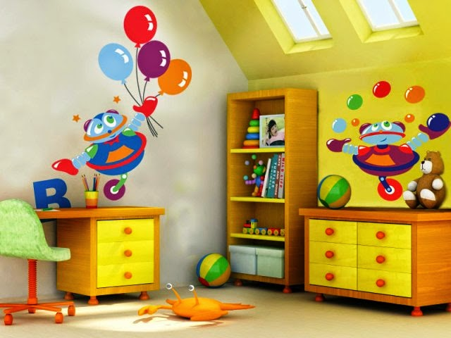 Wall Paint For Kids Room : Wall Painting Ideas for Childrens Room