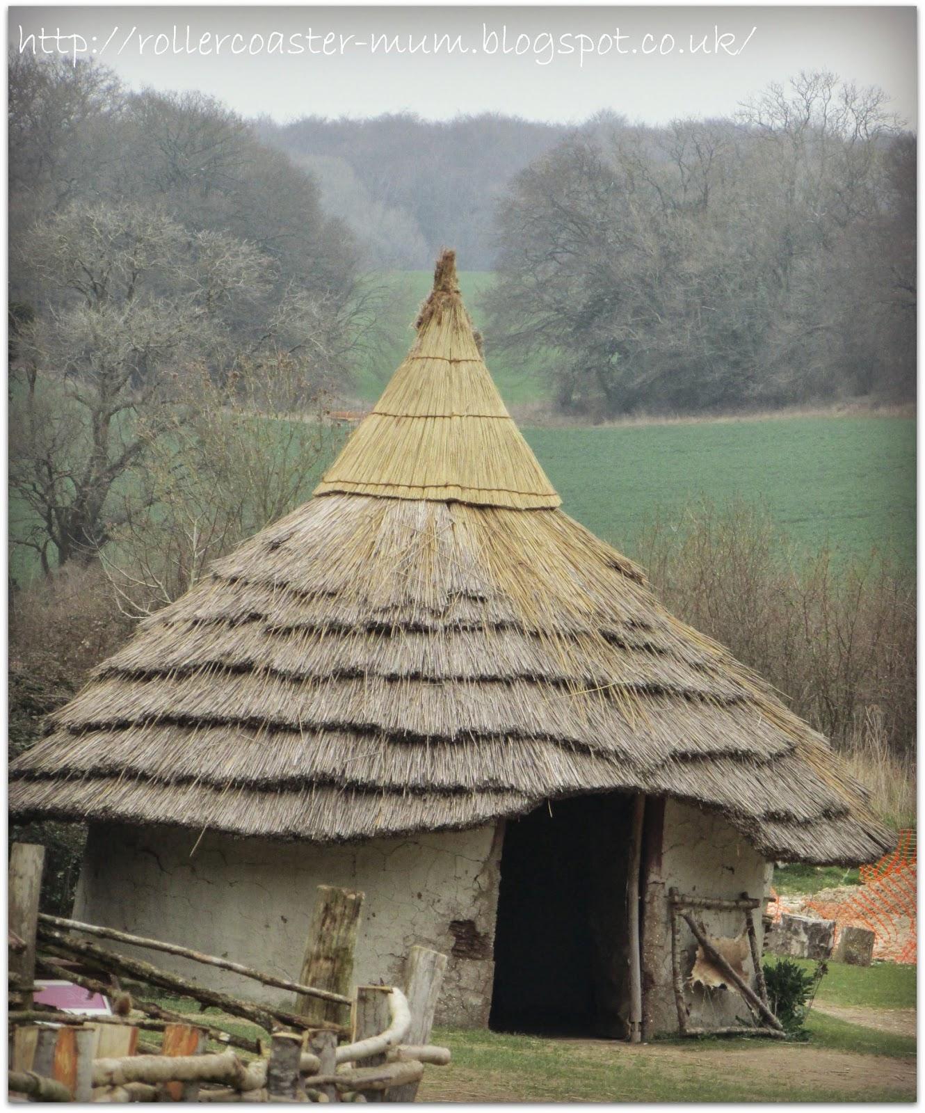 Celtic roundhouse dwelling - Butser Ancient Farm