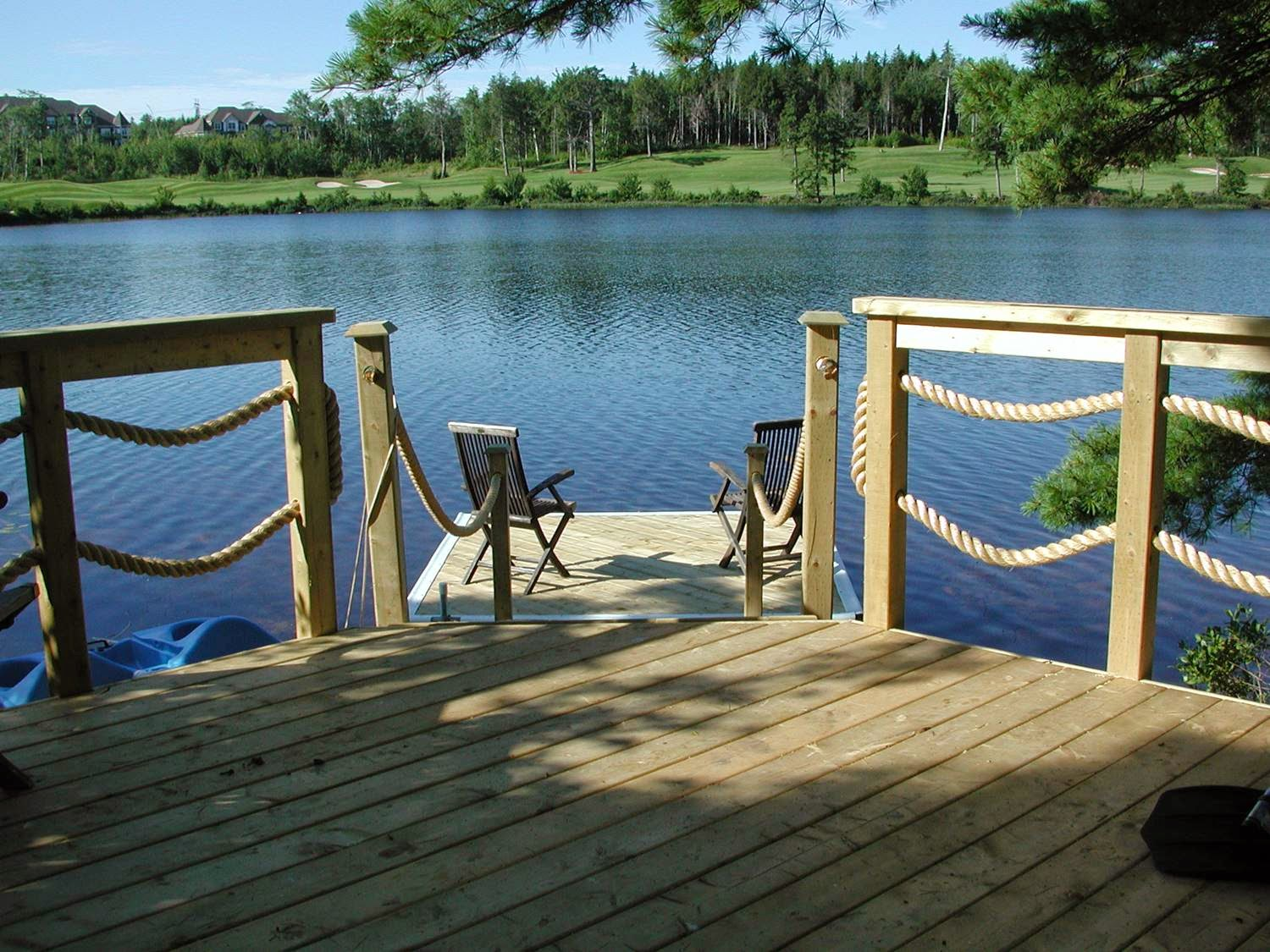 Pressure Treated Deck & Dock.  Designed by Archadeck