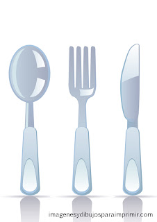 cutlery to print
