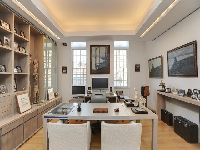 Home office at the West Village Apartment, New York