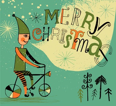 http://www.istockphoto.com/vector/christmas-elf-cycling-51227916