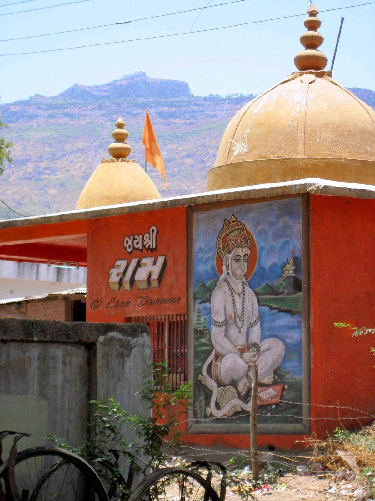 Lord Hanuman painting on a wall