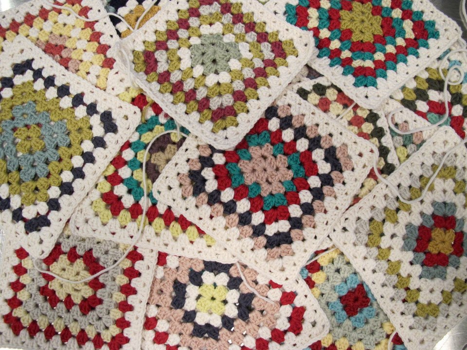 Crocheting Granny Squares For Beginners : Made On The Left: Crochet for Beginners class