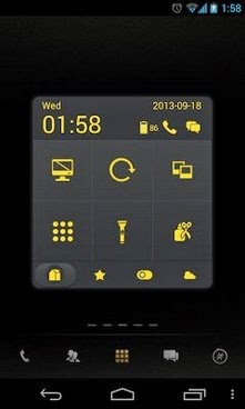 Dark Yellow Toucher Pro Theme android free apk