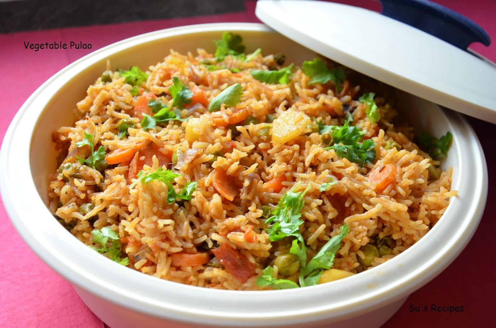Su's Recipes: Vegetable Pulao