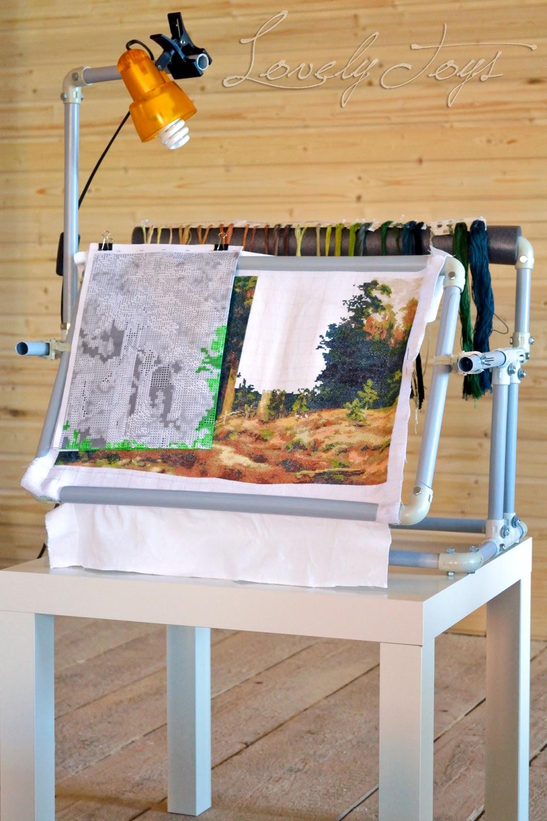 Сделать станок для вышивания из пвх труб своими руками