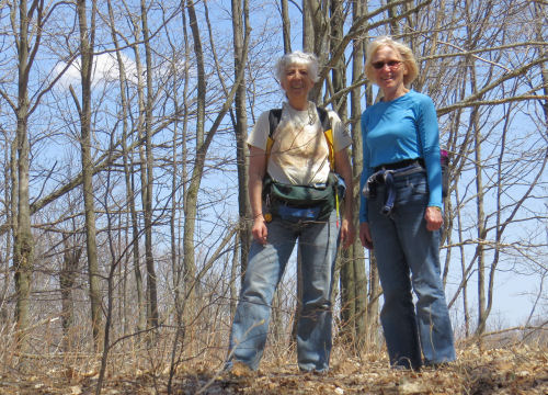 hikers on Briar Hill