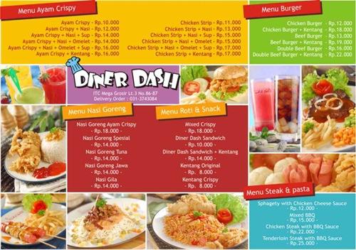 food brochure template .
