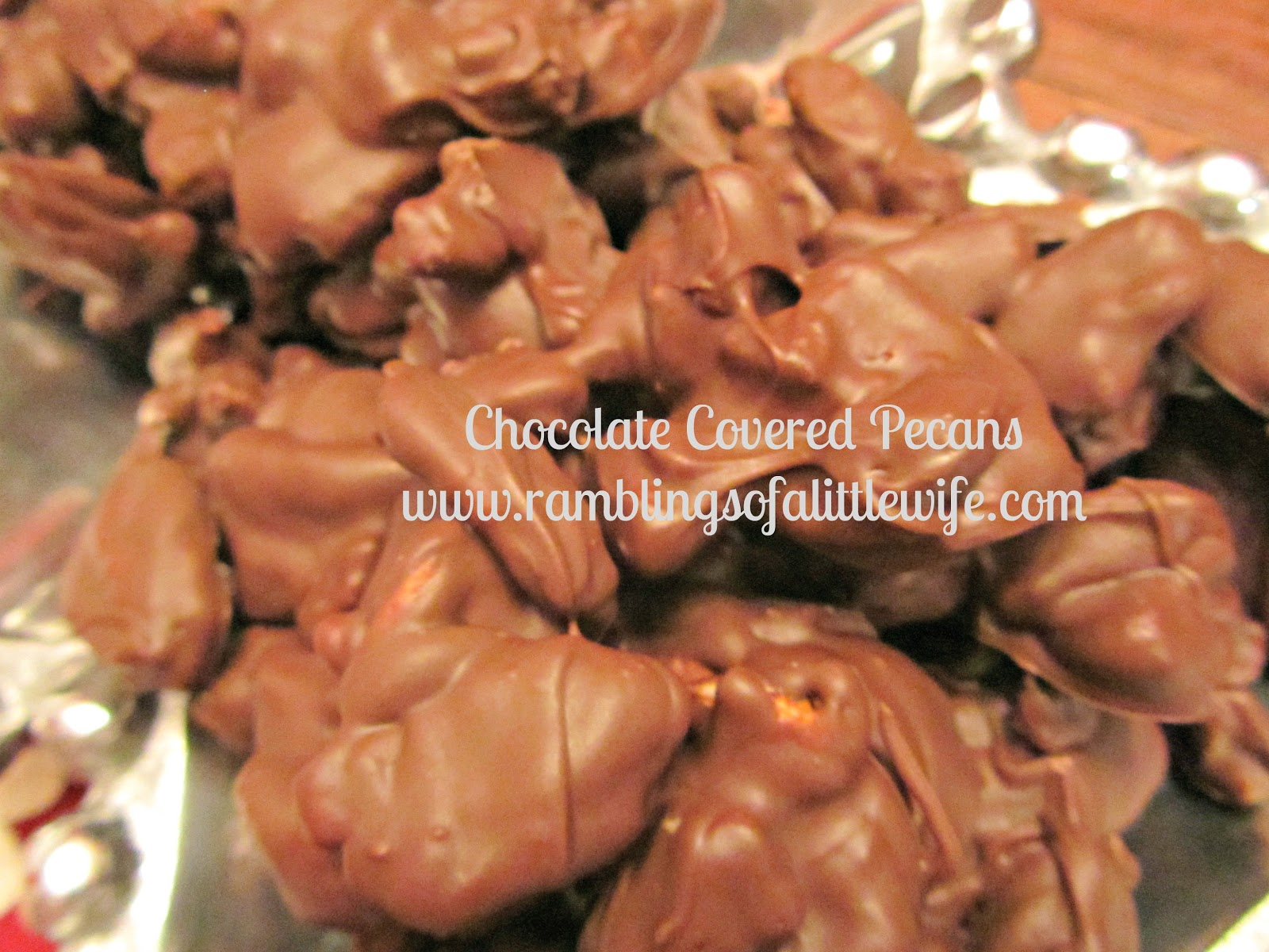 Recipes: Chocolate Covered Pecans