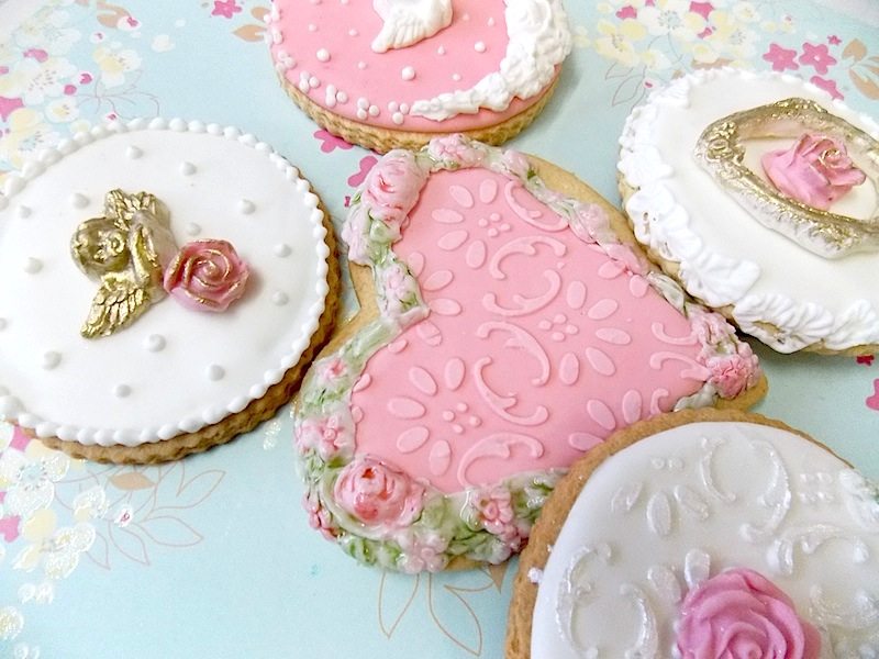 como usar galletas decoradas con stencils
