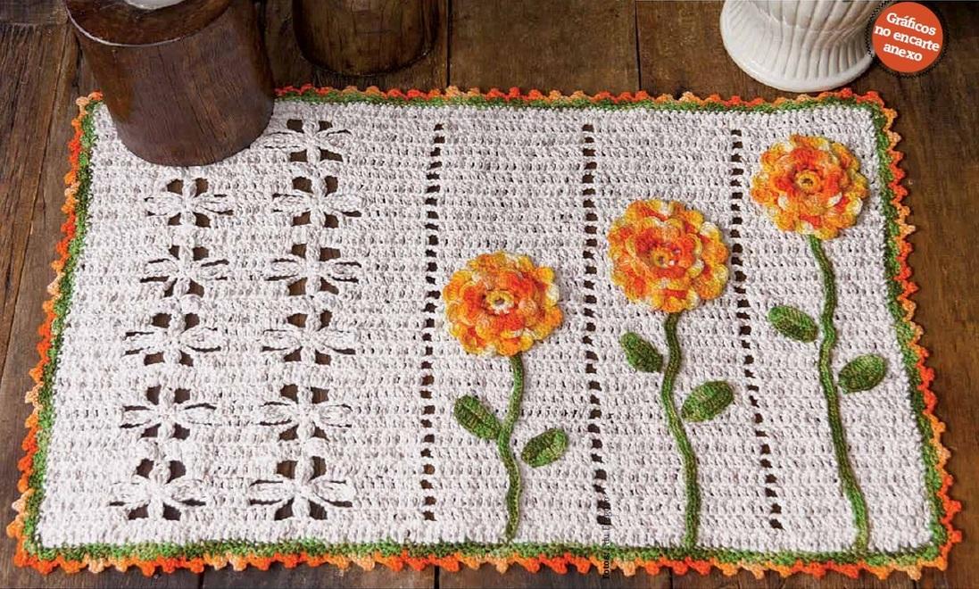 Receita de tapete de mesa com fio duna armarinho s o jos for Tapete mesa