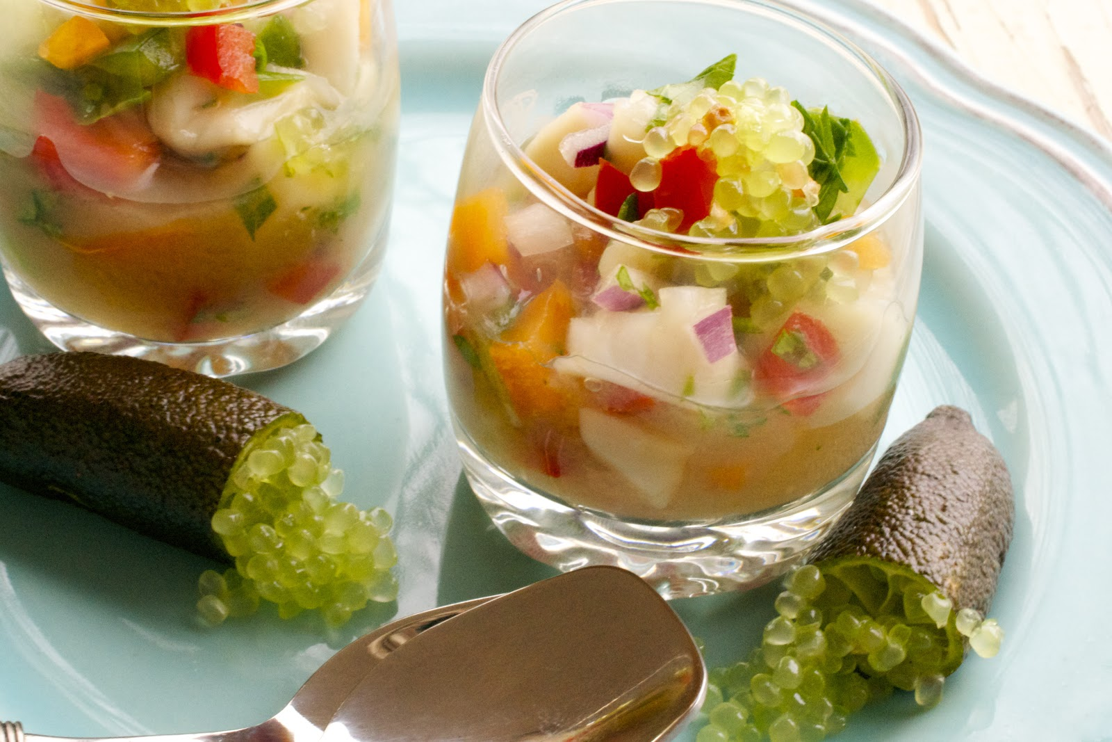 Scallop Ceviche with Finger Limes