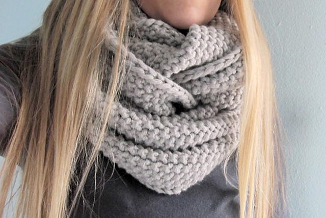 Easy Cowl Knitting Patterns : Free Knit Cowl Pattern   Catalog of Patterns