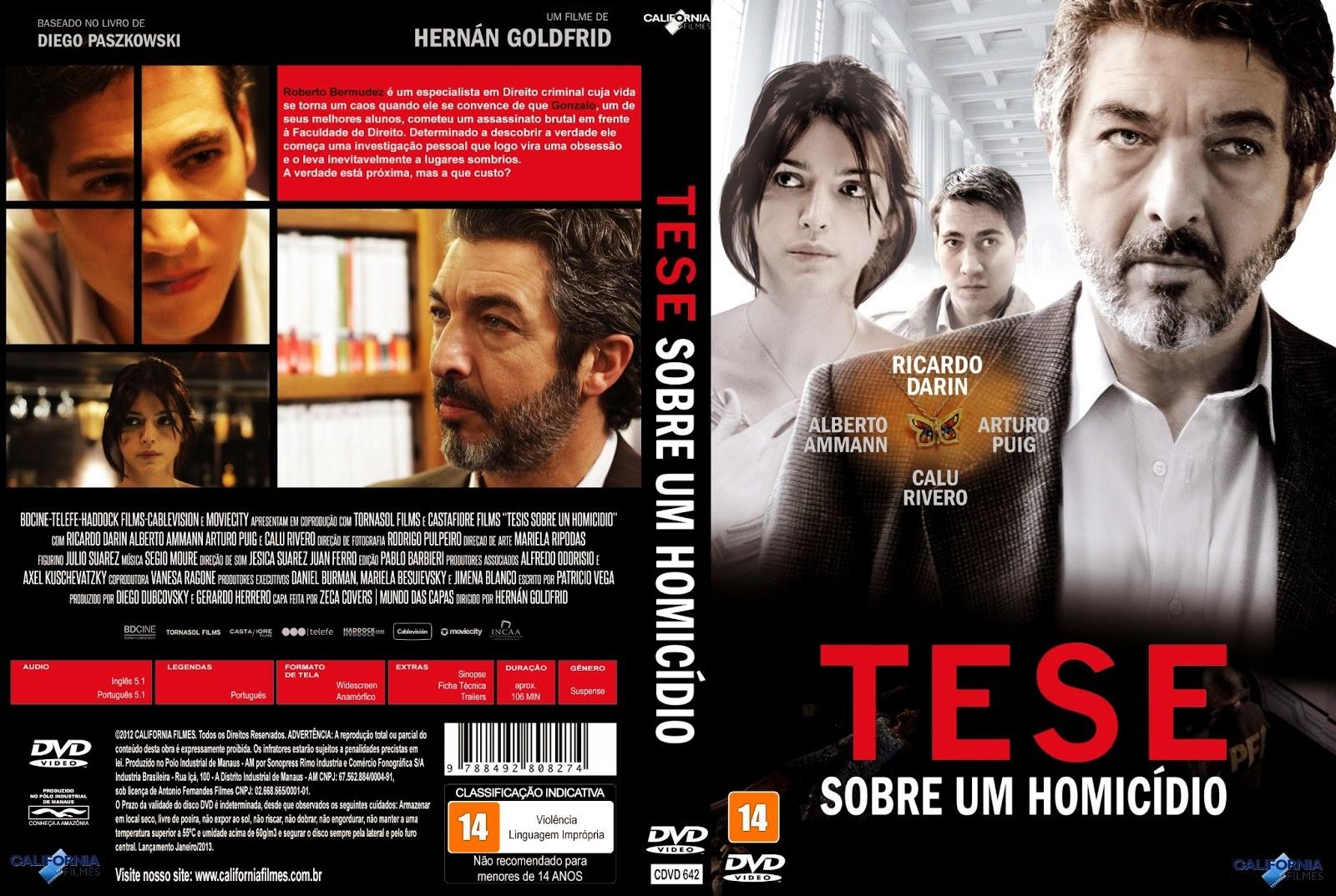 Filme Tese Sobre Um Homicídio DVD Capa
