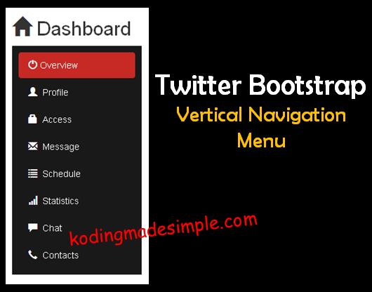 Bootstrap-Sidebar-Menu-Tutorial