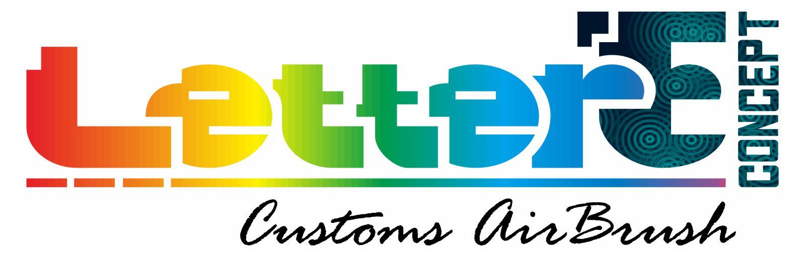 Letter E Custom Airbrush Cirebon