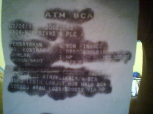 cara perbaiki struk ATM kabur