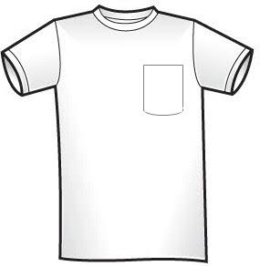 Camisetas com bolso estampado
