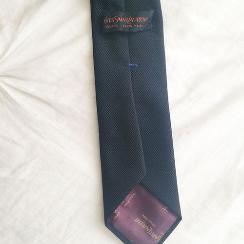 thrifted yves saint laurent tie