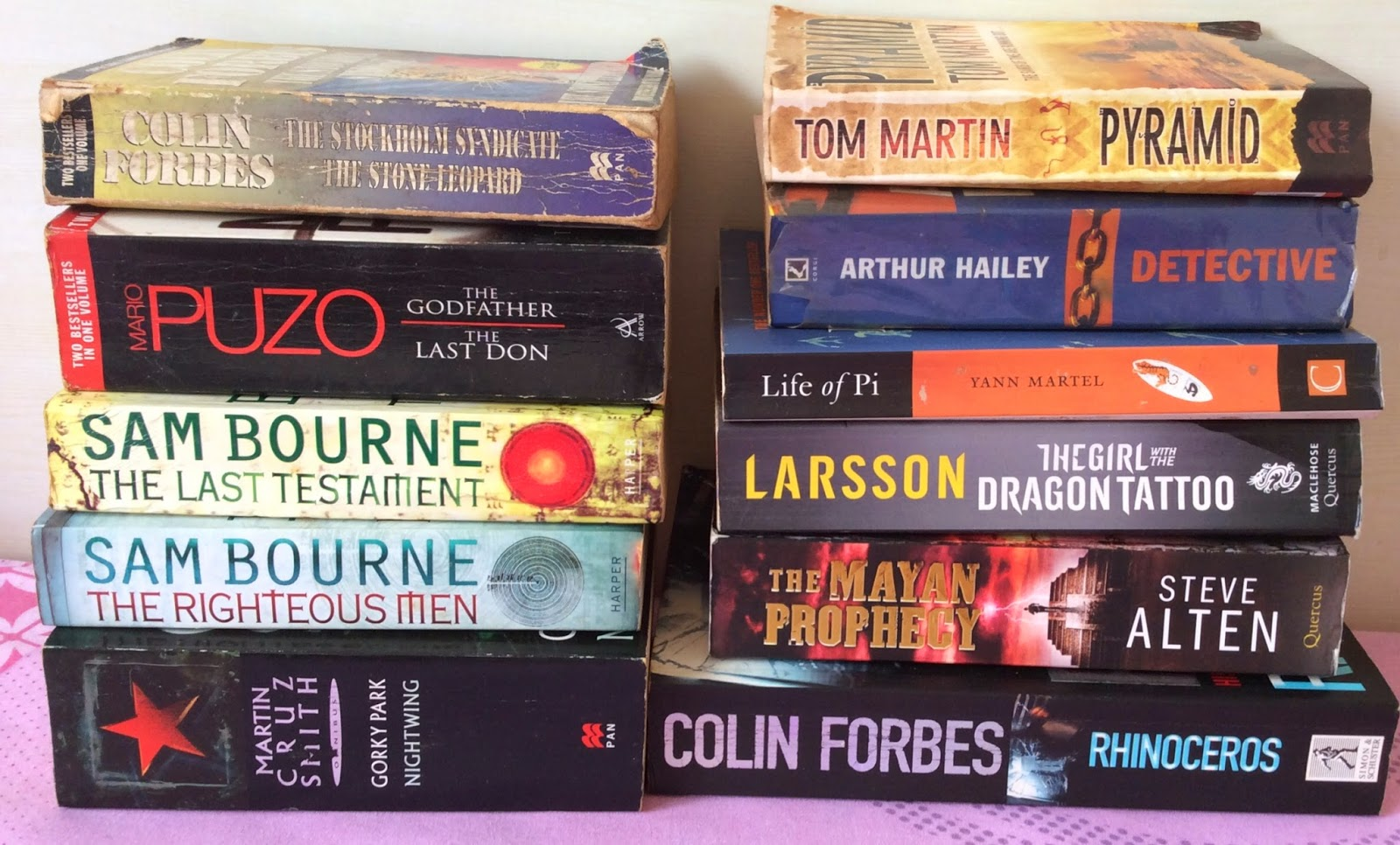 Thrillers and Fiction books