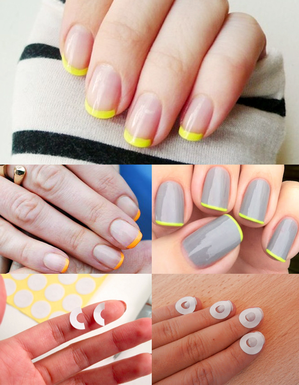 maiko nagao diy french manicure with neon tip. Black Bedroom Furniture Sets. Home Design Ideas
