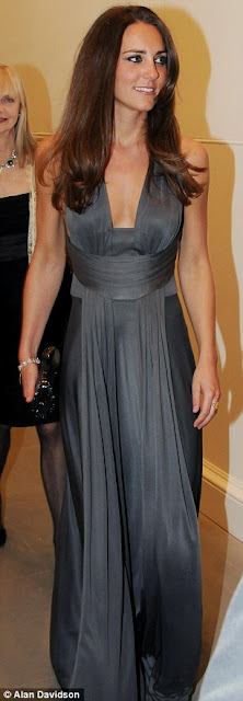 kate middleton grey gown issa