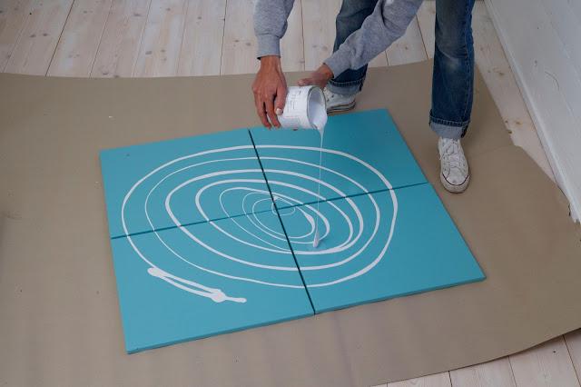 Hogar diez cuadros diy f ciles para tu hogar - Hacer cuadros originales para salon ...