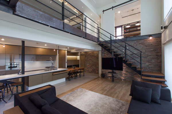 Contemporary Home Interior two level contemporary home interior design