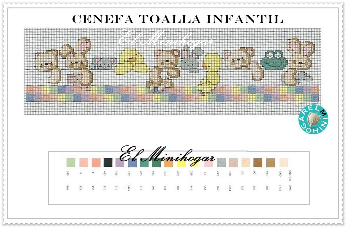 Cenefas infantiles punto de cruz para toallas imagui - Cenefas punto de cruz para toallas de bano ...