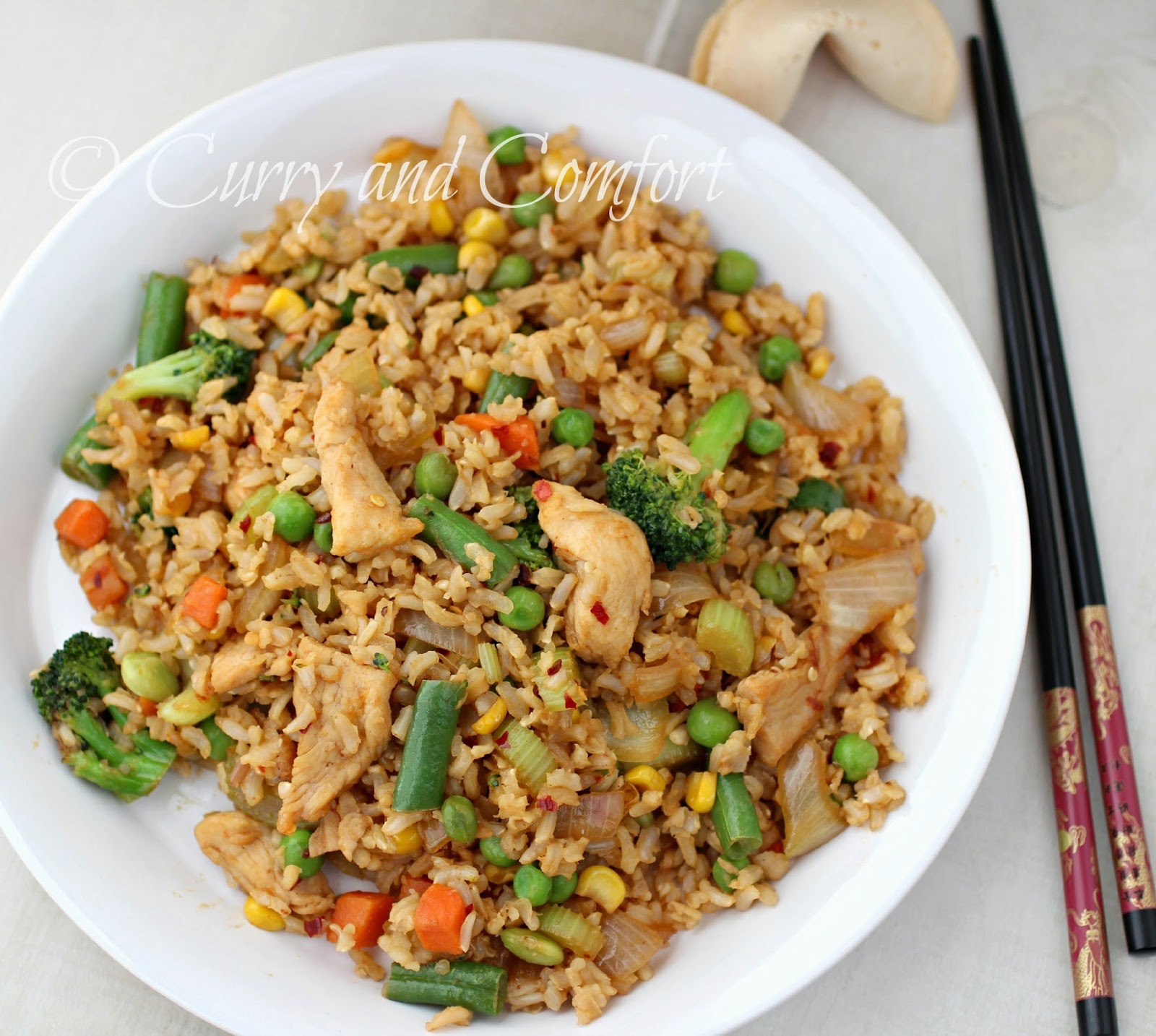 Kitchen simmer quick chicken fried rice once vegetables have heated through add the 2nd tbs of butter and the cold rice toss all ingredients and heat through well taste for salt and seasoning ccuart Images