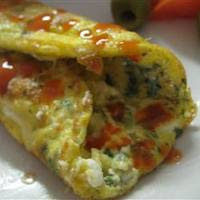 egyptian feta cheese omelet roll this omelet is juicy with this cheese ...