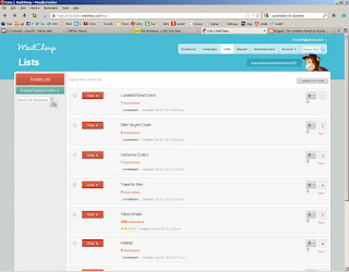 newsletter sign up boxes created with Mailchimp