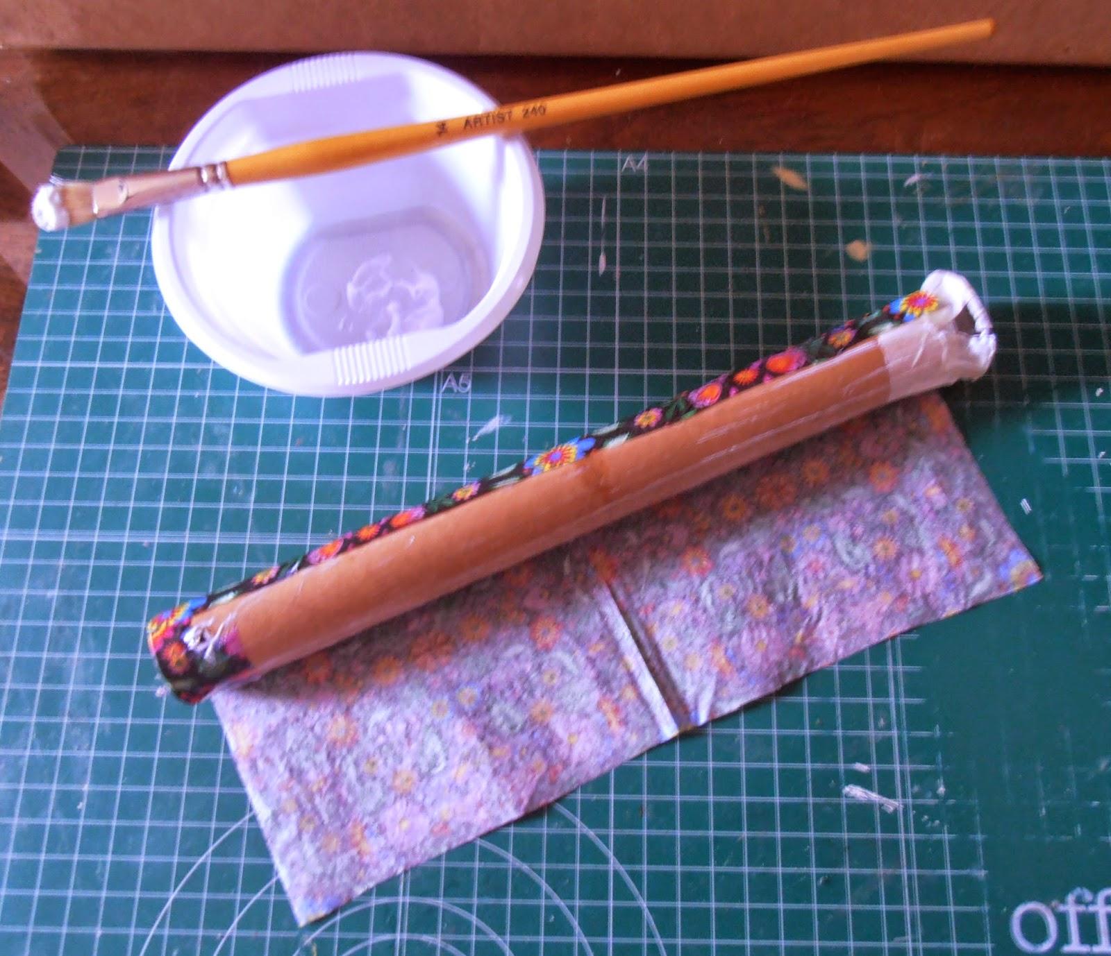 Diy portarrollos para papel cocina 100 material for Material cocina