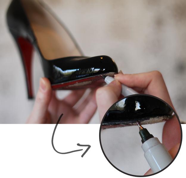 Scuffed Shoe Repair Burgundy