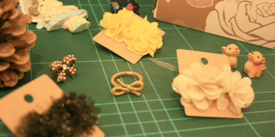 045: Assorted Fabric Earring!