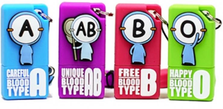 tipe golongan darah, golongan darah manusia, gambar kartun golognan darah lucu, gantungan kunci golongan darah